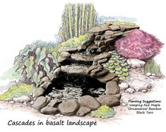 Picture of Cascades in basalt colour