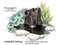 Picture of Waterfall Setting AD805