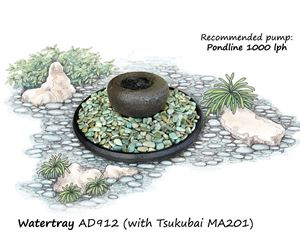 Picture of Watertray with Tsukubai