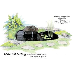Picture of Waterfall Setting AD804