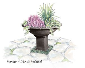 Picture of Planter on Rectangular Pedestal